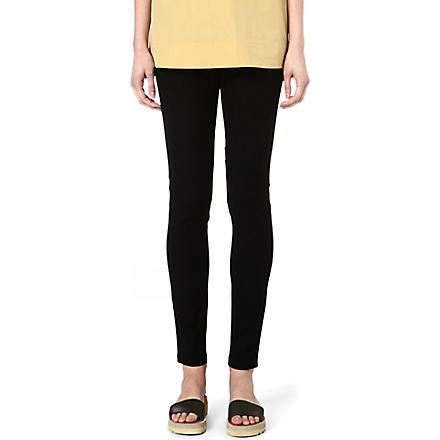 JOSEPH Gabardine stretch leggings (Black