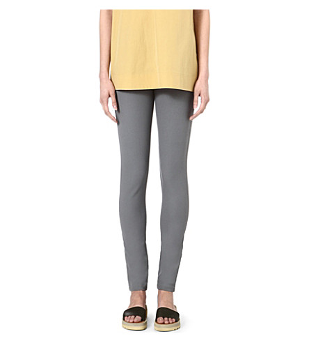 JOSEPH Gabardine stretch leggings (Cloudy