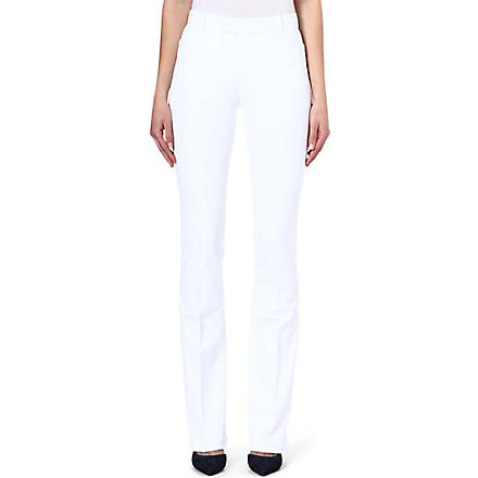 JOSEPH Gabardine trousers (White