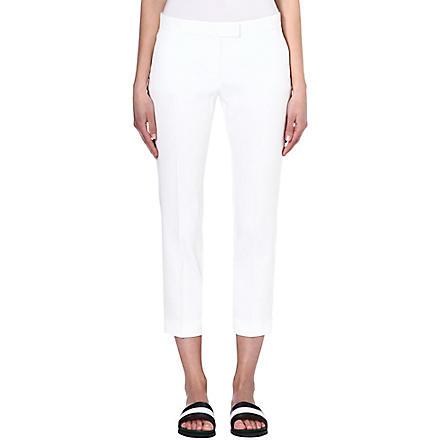 JOSEPH Queen linen-blend trousers (White
