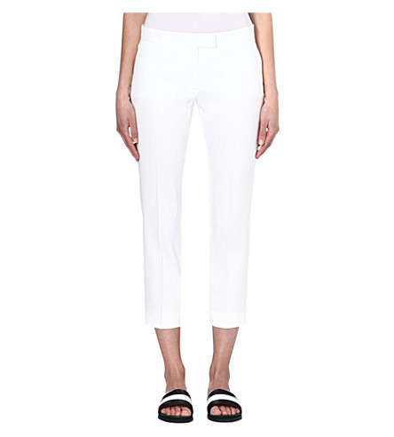 JOSEPH Queen linen-blend trousers (White