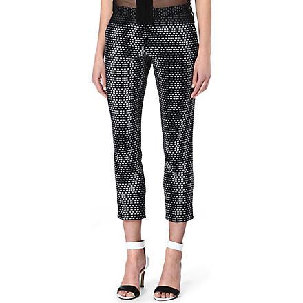 JOSEPH Delaunay Optic trousers (Navy/white
