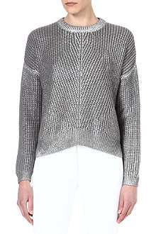 JOSEPH Foiled pearl stitch jumper