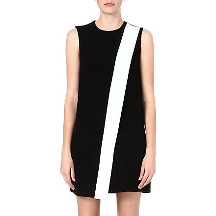 JOSEPH Sol crepe dress (Black/white