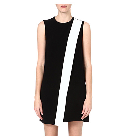 JOSEPH Sol crepe dress (Black/white