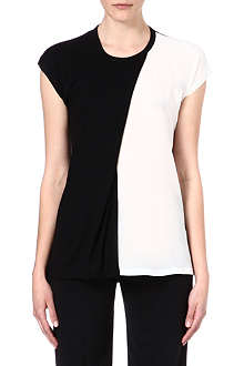 JOSEPH Semi-sheer panel t-shirt