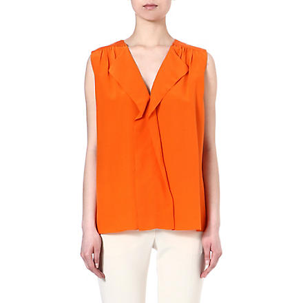 JOSEPH Dante silk top (Orange
