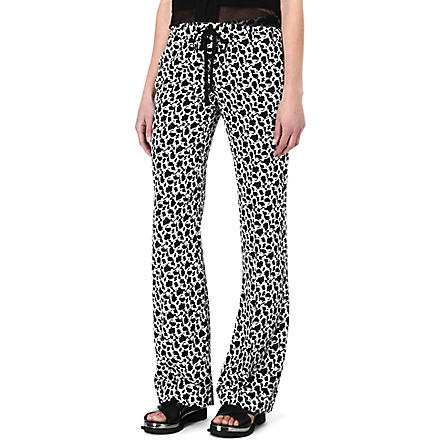 JOSEPH Pyjama silk trousers (Black/white