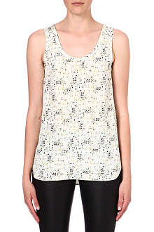 JOSEPH Deborah pixelated-print silk top