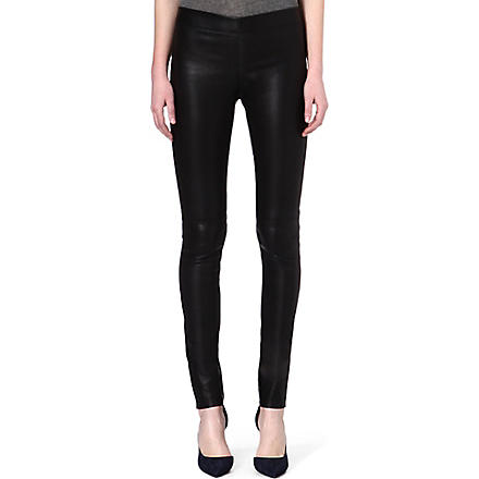 JOSEPH Stretch leather leggings (Black