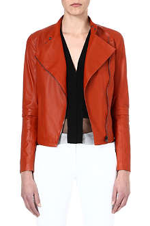 JOSEPH Alpha leather jacket