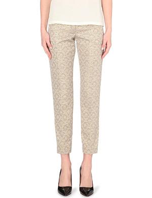 JOSEPH Jacquard high-rise trousers
