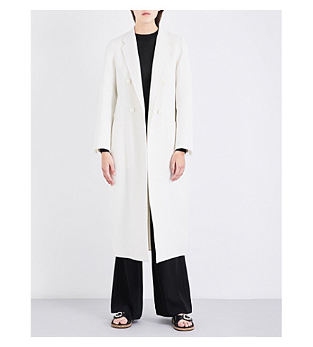 JOSEPH Bailey double-breasted wool and cashmere-blend coat (048chalk