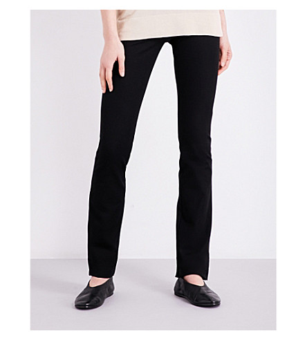 JOSEPH Lex slim-fit high-rise stretch-gabardine trousers (010black