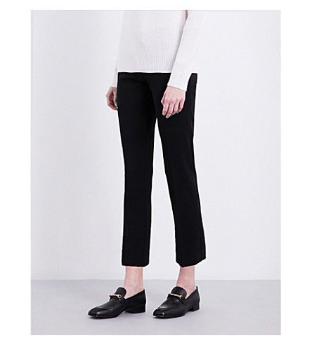 JOSEPH Finley slim-fit cropped stretch-wool trousers (010black