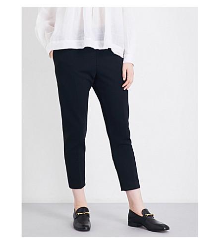 JOSEPH Stretch wool louna trouser (010+black