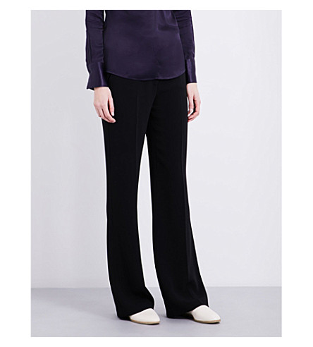 JOSEPH Cady straight-fit woven trousers (010black