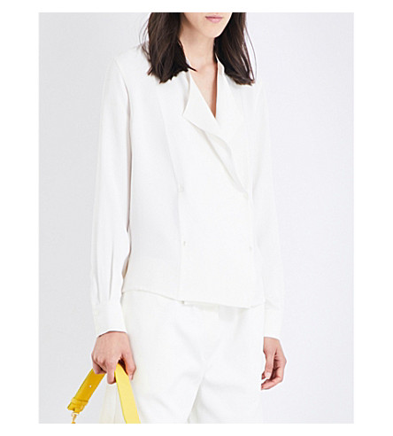 JOSEPH Jerry silk blouse (021off+white