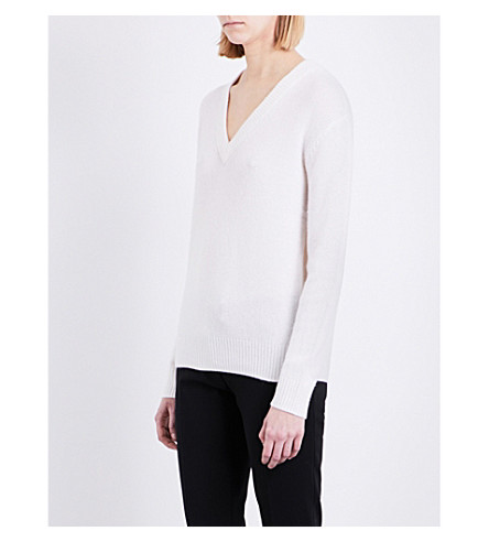 JOSEPH Open cashmere jumper (048chalk