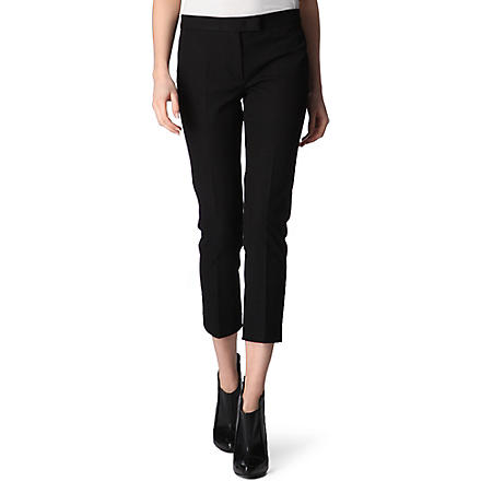 JOSEPH Cropped trousers (Black