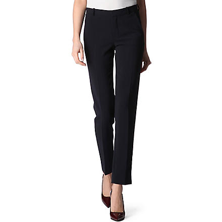 JOSEPH Straight-leg trousers (Navy