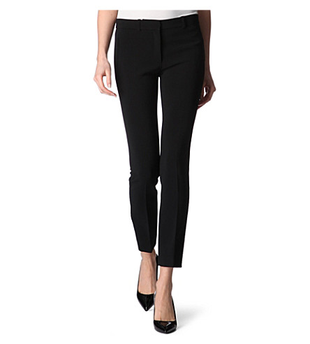 JOSEPH Eliston crepe trousers (Black