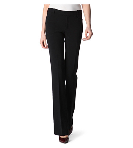 JOSEPH Rocket crepe trousers (Black