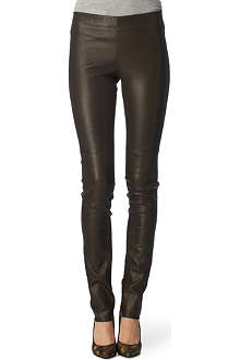 JOSEPH Leather-front leggings
