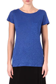JOSEPH Linen and silk-satin t-shirt