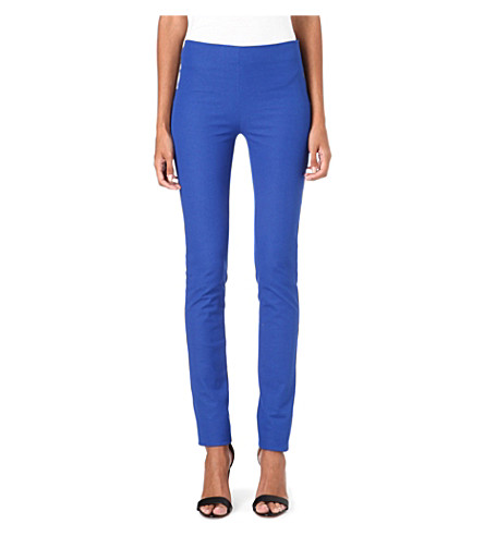 JOSEPH Gabardine stretch leggings (Azure