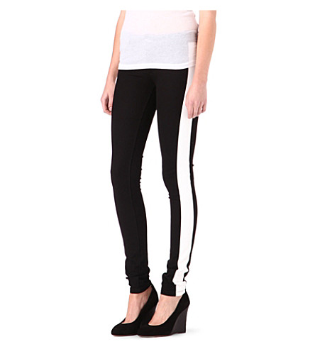 JOSEPH Erevan skinny smoking trousers (Black/white