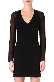 JOSEPH Milano Browne wool-blend dress