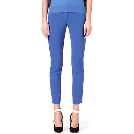 JOSEPH Eliston stretch-crepe trousers (Azure