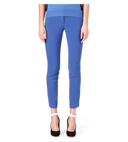 JOSEPH Eliston stretch-crepe trousers (Azure