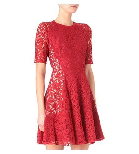JOSEPH Agnes lace dress (Red