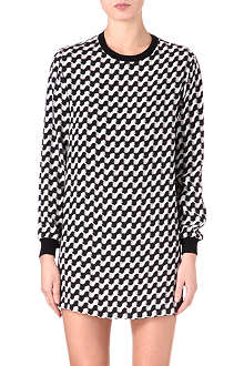 JOSEPH Lizzie silk printed dress