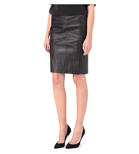 JOSEPH Brent stretch-leather skirt (Black