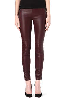 JOSEPH Angel leather and gabardine trousers