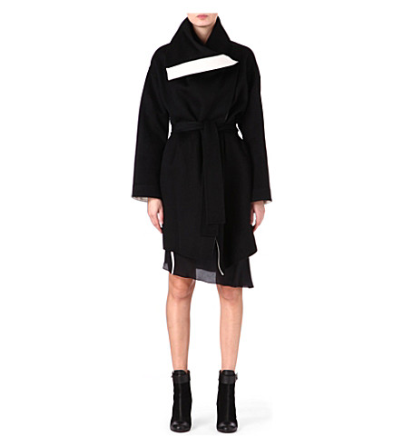 JOSEPH Ludlow double-faced cashmere coat (Black