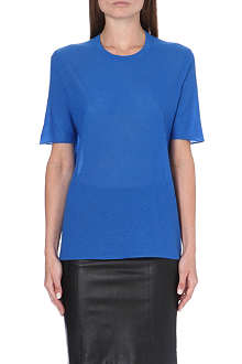 JOSEPH Short-sleeved cashmere top