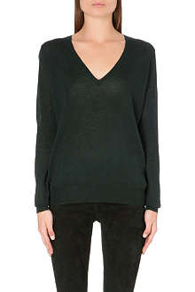 JOSEPH V-neck cashmere top