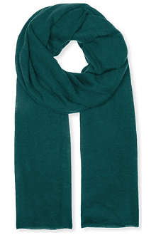 JOSEPH Knitted cashmere wide scarf