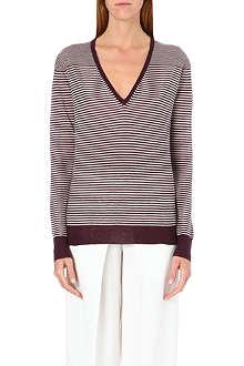 JOSEPH Stripe cashmere jumper