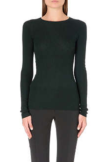 JOSEPH Cashmere round-neck ribbed jumper