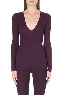 JOSEPH Cashmere v-neck ribbed jumper