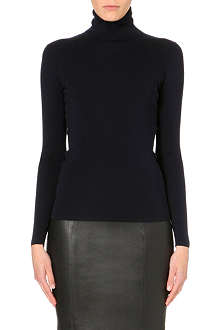 JOSEPH Long sleeve turtleneck silk top