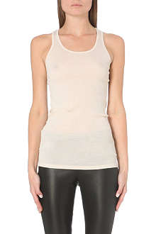 JOSEPH Cotton silk debardeur vest top