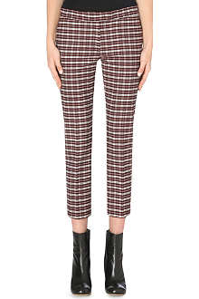 JOSEPH Queen checked cropped trousers