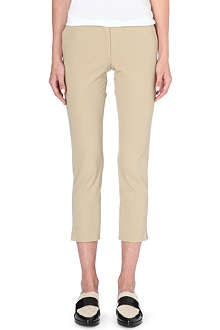 JOSEPH Cropped stretch-cotton trousers
