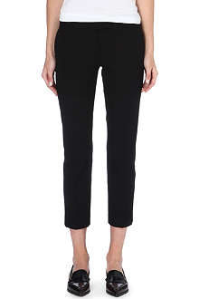 JOSEPH Queen cropped stretch-gabardine trousers